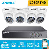 ANNKE 1080P HD Security Camera System 4CH 1080P HDMI DVR Kit with 4pcs 2MP outdoor surveillance camera 1080P CCTV System