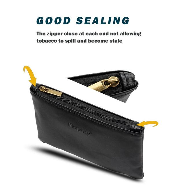 Firedog Cigarette Accessories PU Leather Tobacco Pouch Case Weed Herb Smoking Pipe Carrying Storage Rolling Tobacco Pouch