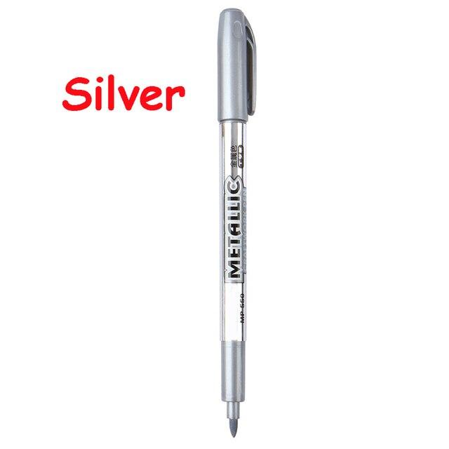 1 Pcs Paint Pen Metal Color Pen Technology Gold And Silver 1.5mm Up Paint Pen Student Supplies MP550 Marker Pen