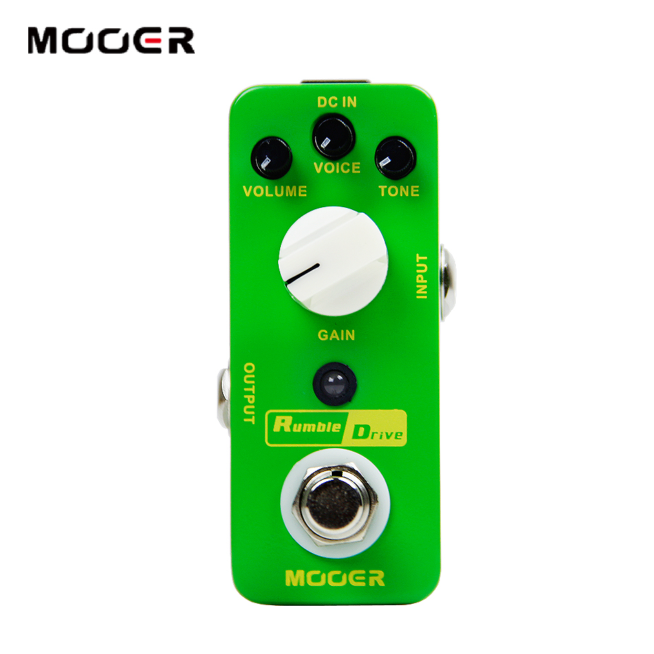 Mooer Rumble Drive Overdrive Pedal excellent dynamic response and open sound Ture Bypass Guitar effect pedal mooer ensemble queen bass chorus effect pedal mini guitar effects true bypass with free connector and footswitch topper
