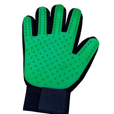 Силиконовая щетка для животных перчатка для ухода за домашними животными мягкая эффективная перчатка для ухода за собаками ванна для кошек товары для уборки домашних животных перчатка аксессуары для собак - Цвет: green