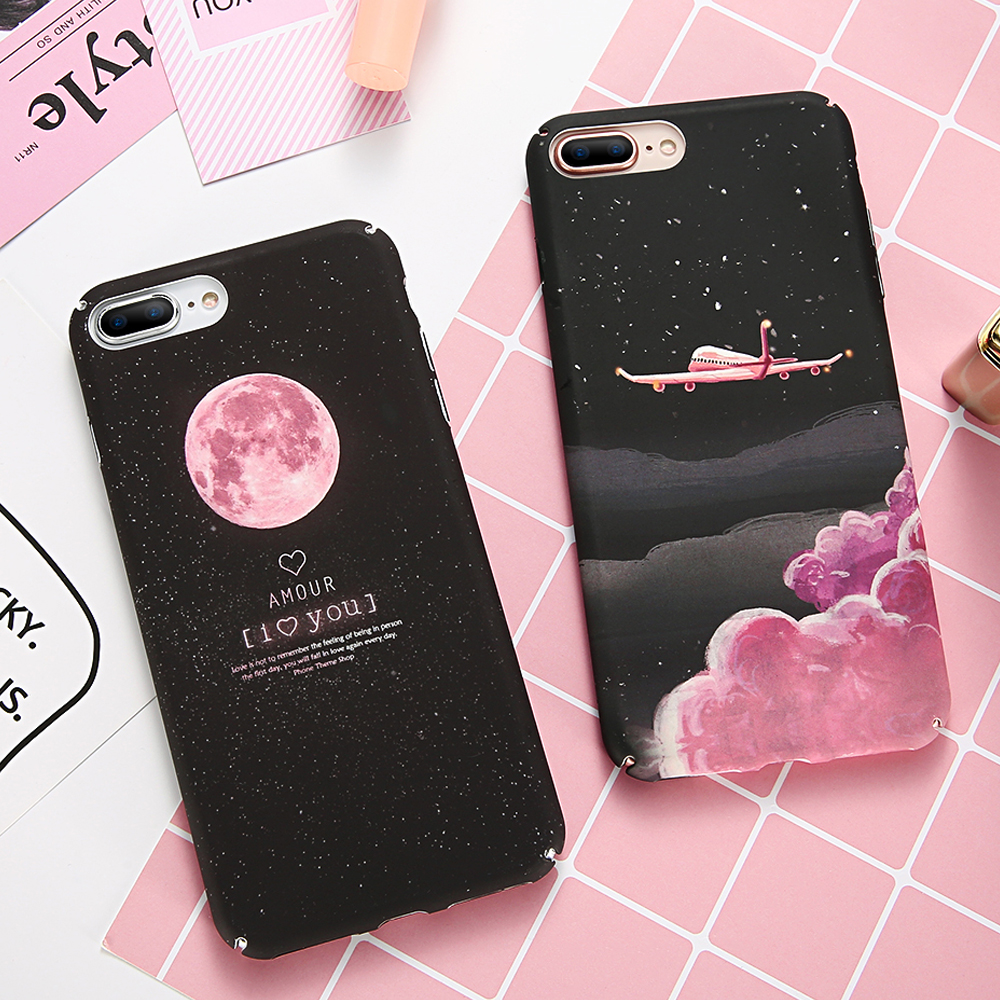 In Quality Tomocomo Cartoon Airship Astronaut Stars Moon Case For Iphone 8 8plus Case Over Hard Pc Phone Cases For Iphone7 7 Plus Capa Excellent