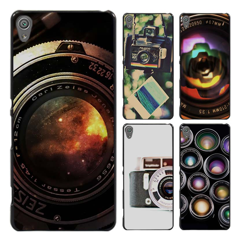 Polaroid Camera Colorful Rainbow Style Case Cover for Sony Ericsson Xperia X XZ XA XA1 M4 Aqua E4 E5 C4 C5 Z1 Z2 Z3 Z4 Z5