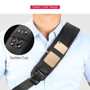Image 5 - Kingson 13 حقيبة صدر للرجال الأسود حقائب كتف واحدة مع USB شحن مقاوم للماء النايلون حقائب كروسبودي حقيبة ساع البيع