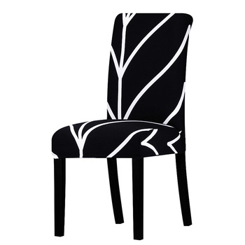 All Black Color Chair Cover Washable Removable 4 Chair And Sofa Covers