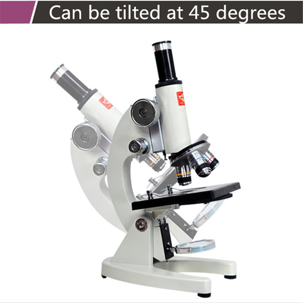 Top Quality Professional Biological Microscope,40X-2500X Magnification HD high-powered microscope for Student professional student biological microscope up and down leds microscope metal structure optical glass lenses wide angle eyepiece