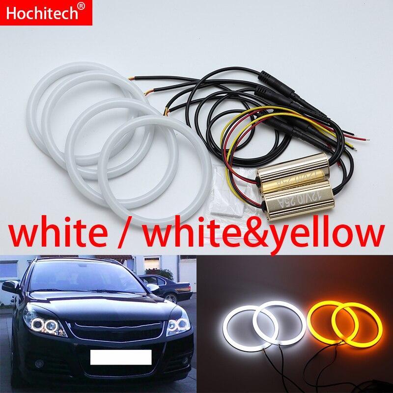 for Opel Vectra C Caravan 2005 2008 White yellow Cotton LED Angel eyes kit halo ring