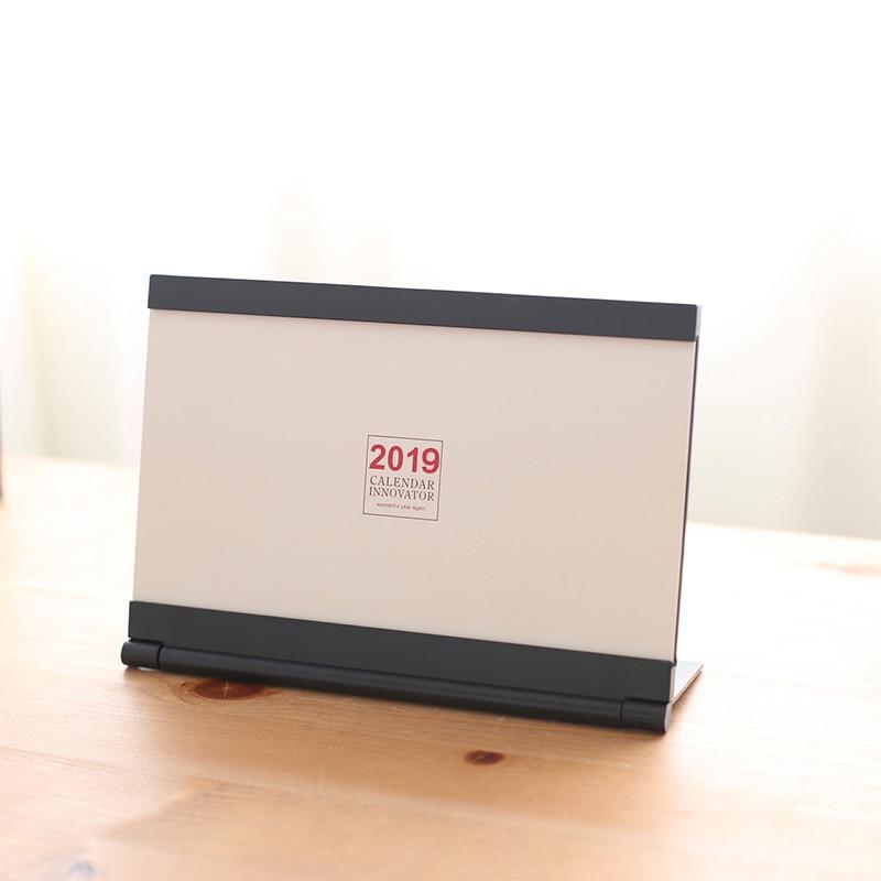 Organizador de Agenda de escritorio 2019 creativo DIY calendario organizador diario 2018,08 2019,12