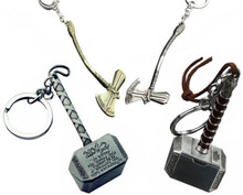 Avengers Thor Hammer Stormbreaker  Metal Car Key Rings Stainless Steel Motorcycle Chain Fobs Gift