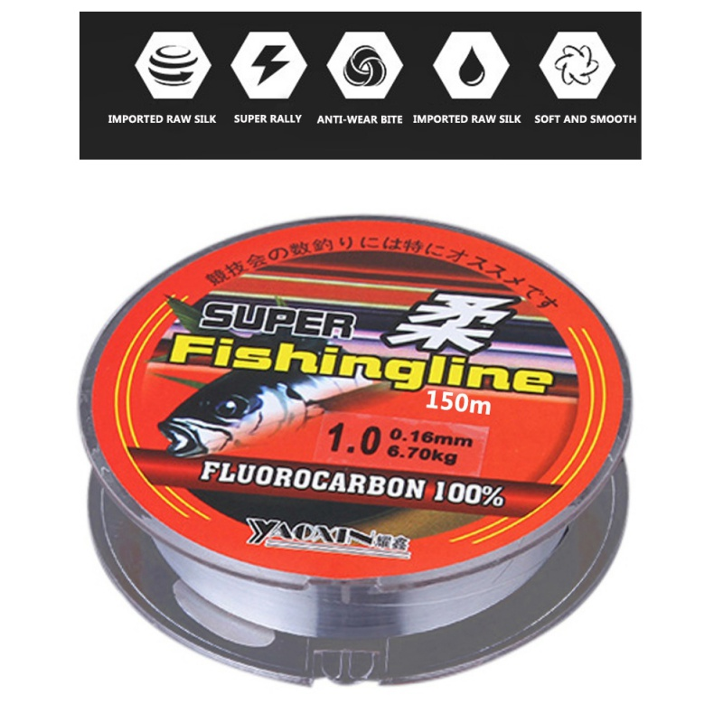 150m 100% Nylon Fishing Line Fishing Tackle Equipment Sea Fly Fishing Everything for Fishing 0.4#~8.0# Line