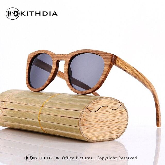 a34bdbbb70 KITHDIA Wooden Bamboo Sunglasses Polarized Brand Designer Mirror Original  Wood Goggles feminino oculos de sol masculino Big Sale