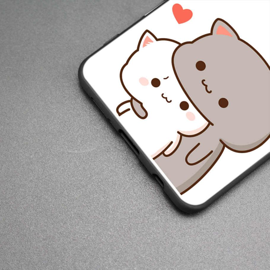 Мягкие милые зимние ботинки с рисунками котят и сердец с рисунком из ТПУ для samsung Galaxy S9 S8 A8 A6 J4 J6 плюс A7 A9 J8 2018 S7 Edge Note 9 Mate 8 крышка
