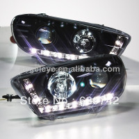 For VW Scirocco LED Head Light with Projector Lens 2008 2011 year SN