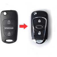 2 Button Replacement Modified Flip Folding Remote Key Shell Case For Kia Sportage Fob Key Cover (New Style)