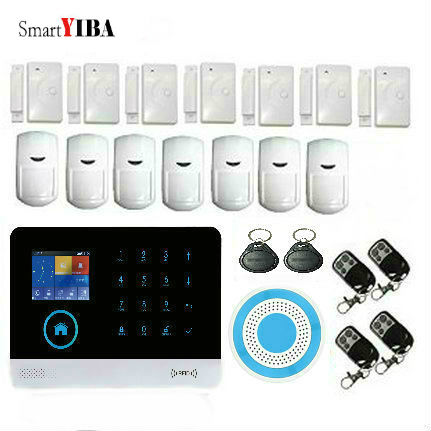 SmartYIBA Wireless Blue Siren PIR Sensor Motion Detector Alarm Anti-theft SMS GPRS WIFI GSM Alarm System With APP Remote Control fuers wifi gsm sms home alarm system security alarm new wireless pet friendly pir motion detector waterproof strobe siren