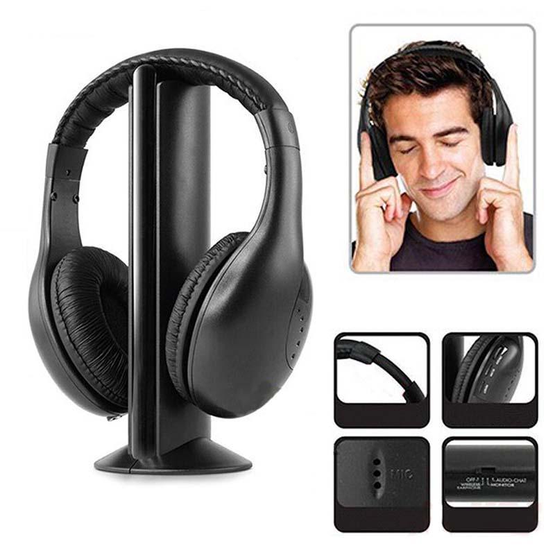 DOITOP Wireless Headphones For iPhone Xiaomi Samsung PC CD DVD Audio TV FM Radio Sport Earphone Music Hifi Headphone Headset 5 in 1 wireless stereo headset headphone transmitter fm radio for tv dvd mp3 pc l060 new hot