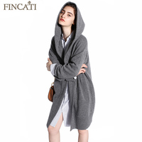 Women Cardigan 2017 High End Spring Autumn 100 Pure Cashmere Open Stitch Hooded Cardigans Fluffy Sweater