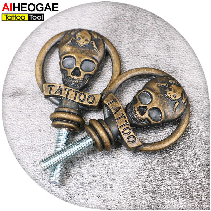 Новый дизайн Череп Форма татуировки ручка машины Losk винт 2 шт./партия тату пистолет инструмент винт TG5508