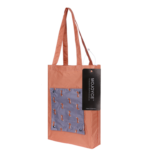 4 Style Cartoon Animal Printing Foldable Green Ping Bag Tote Folding Pouch Handbags Convenient Large