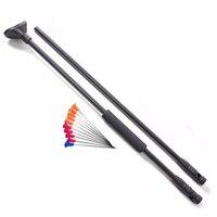 BLOWGUN M50 Black Blow Gun with Junction Tube and 10pcs Metal Needles Foam Comfort Grip fit Hunting and shooting Length 39''