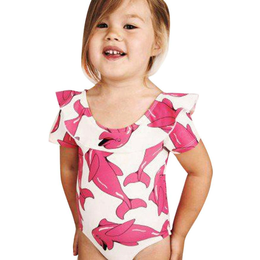 eafd456244b54 Infant Kids Baby Girls Swimsuit Cartoon Dolphin One Piece Bathing Bikini  Outfits Bathing Suit Swimwear Girl
