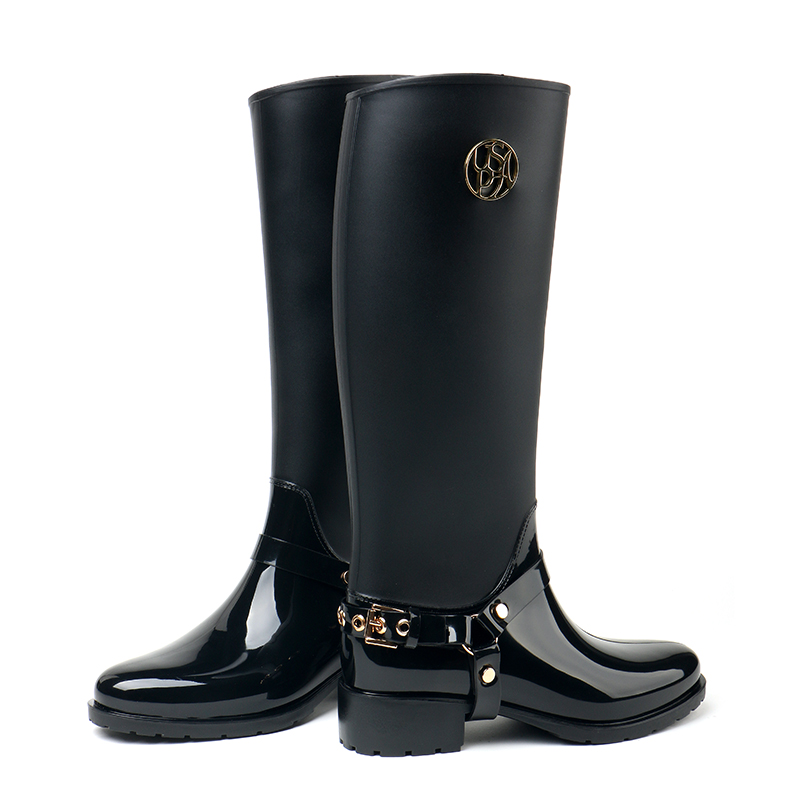 2016 hot tall canister boots Super cute rainboots woman boots fashion ensure water shoes overshoes цены онлайн
