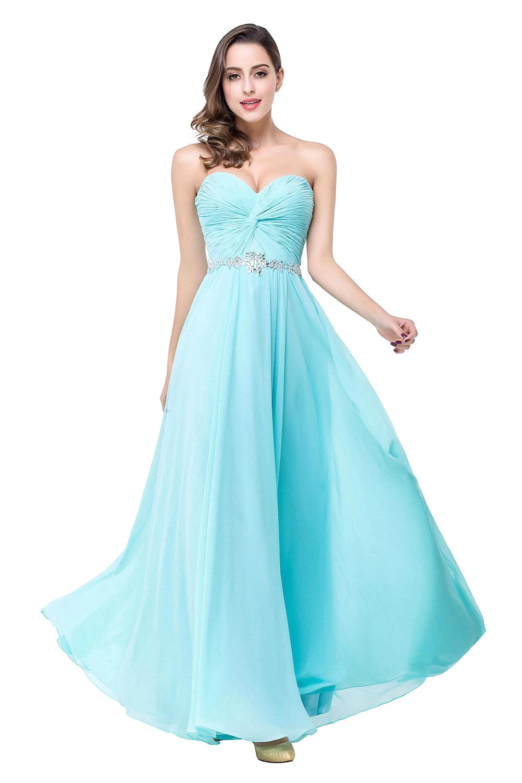 Long beaded chiffon prom dress - Best Dressed