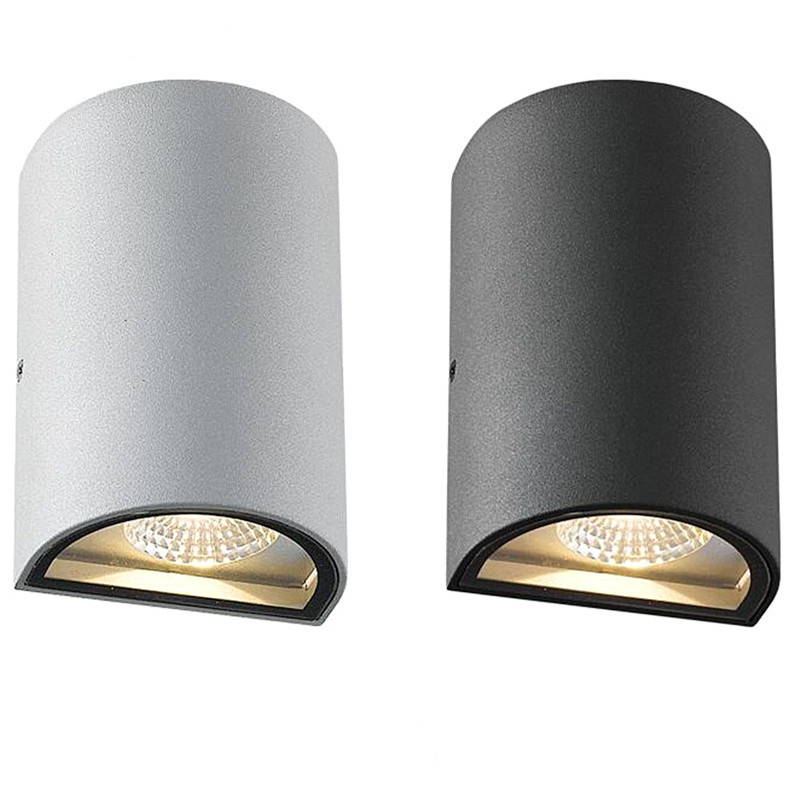 Outdoor wall lighting up and down lamp pillar picture more detailed picture about cob led wall aloadofball Gallery