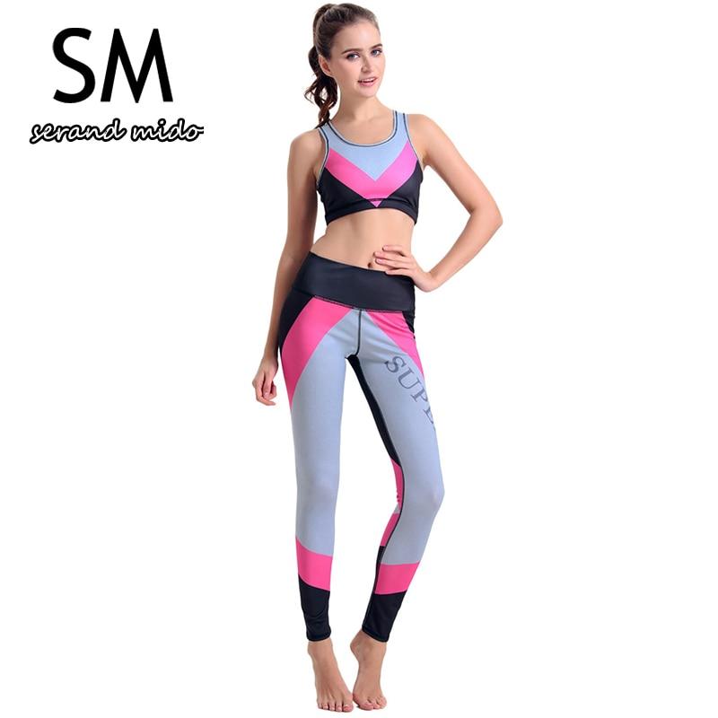 f4c6c00ce5 Fitness Workout Clothing And Women's Yoga Set Calisthenics Exercise Girls  Slim Leggings Tops Bra Pants Sport Suit For Female 007