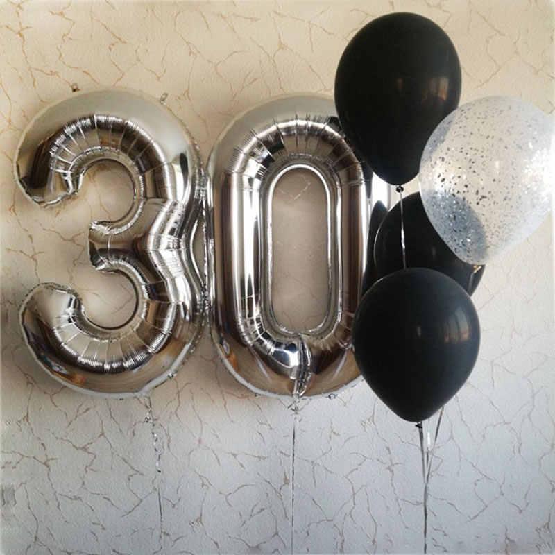 40 дюймов Большая Роза Золотая алюминиевая фольга номер баллоны 0-9 День рождения Свадебные украшения для вечеринки взрослых детей гелий воздушный шар надувной шар