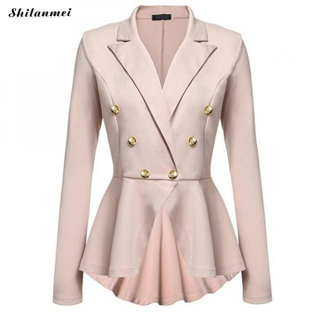 Elegant Ladies Blazer Slim Women Leisure Suit Women Spring Long Sleeve Jacket Casual Cloak Jackets 2018 Spring Office Slim Coat