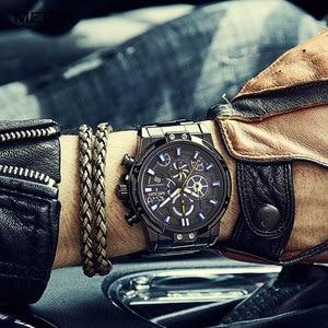 Image 5 - Megir 2019 Mannen Business Quartz Horloges Leger Sport Chronograph Horloge Man Top Merk Luxe Relogios Masculinos 2108 Zwart