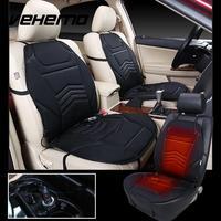 Vehemo Seat Cover Car Seat Heater 12V Black Warmer Heated Cushion Adjustable Universal