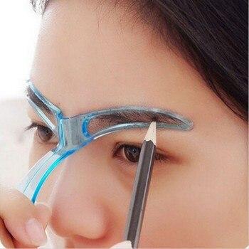 Reusable Makeup Eyebrow Stencils Shaping Grooming Eye Brow Make Up Model Template Design Eyebrows Styling Tool Pink