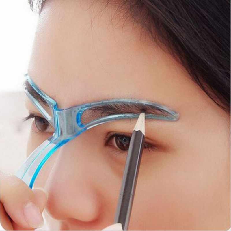 Yeniden kullanılabilir Makyaj Kaş Şablonlar Şekillendirme Tımar Göz Kaş Makyaj Modeli Şablon Tasarımı Kaş Şekillendirme Aracı Pembe