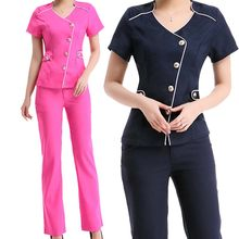 d7f3c4c2998 [SET] Women's Fashion Scrubs Set/Medical Nursing Uniforms/ Club Uniform/  Beautician Spa Clothing High-quality
