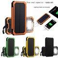 Woweinew Portátil Banco Energia Solar 10000 mah Carregador de Bateria Externa Para O Telefone Móvel