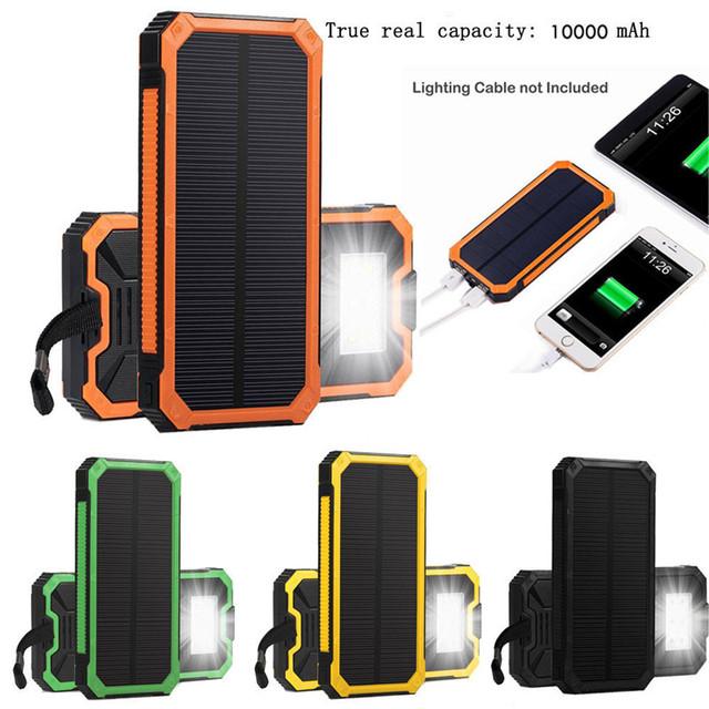 Woweinew Portátil Solar Power Bank 10000 mah Cargador de Batería Externa Para El Teléfono Móvil