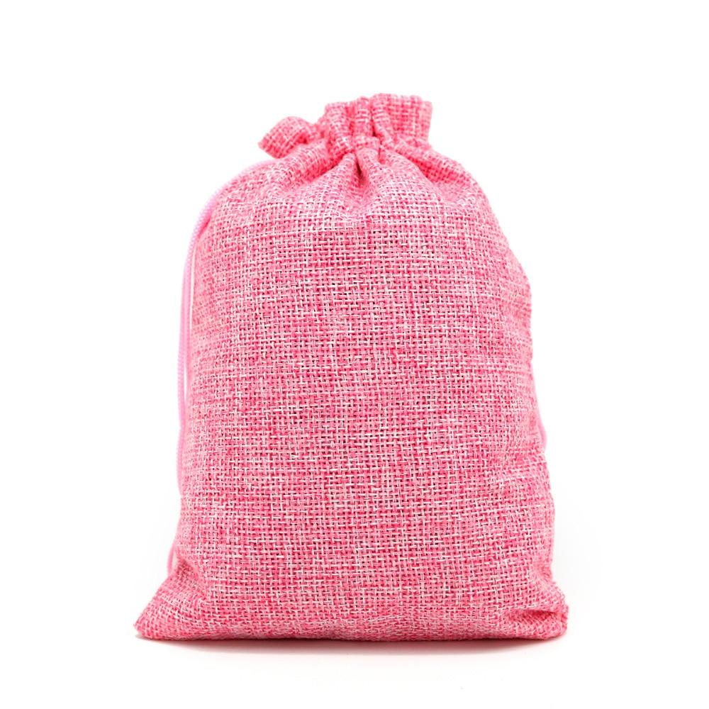5pcs Mini Burlap Jute Drawstring Gift Jewelry Pouches Bags for ...