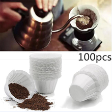 20pcs Replacement White Coffee Filters Single Serving Paper for Coffee Kitchen Coffee Filters Disposable Paper Filters Cups woodyknows replacement nano foam filters for super defense nose nasal filters white size iiis