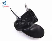 2 Stroke 4 Stroke 8 5x9 Pitch 12 Spine Outboard Engine Aluminum Propeller For Tohatsu Nissan