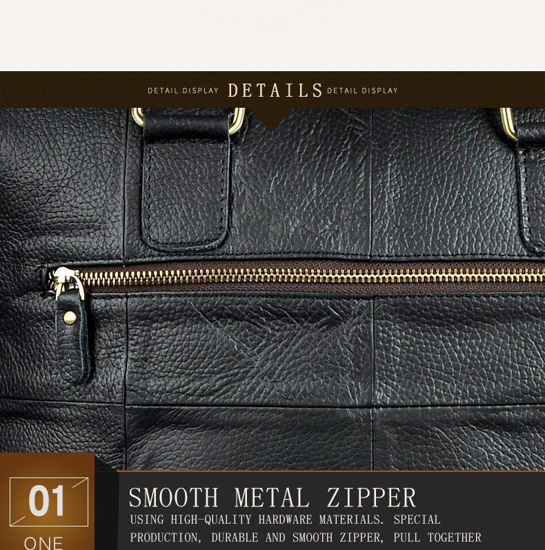 "HTB1XSckdhPI8KJjSspfq6ACFXXaE Men Genuine Leather Office Maletas Business Briefcase 15.6"" Laptop Case Attache Portfolio Bag Maletin Messenger Bag B260"