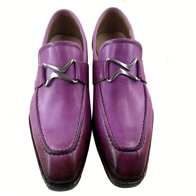 ebd3b48583f29 Detail Feedback Questions about Sipriks Unique Designer Loafers For Men  Purple Formal Shoes Italian Handmade Goodyear Welted Shoes Elegant Black  Slip On ...