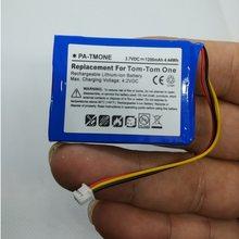 Batterie für TomTom one V2 V3 V5 XL Europa Dach TML Reiter IQ Routen S4L Reiter 2nd 4K 00,100 GPS Li-Ion Ersatz 3,7 V 1200mAh