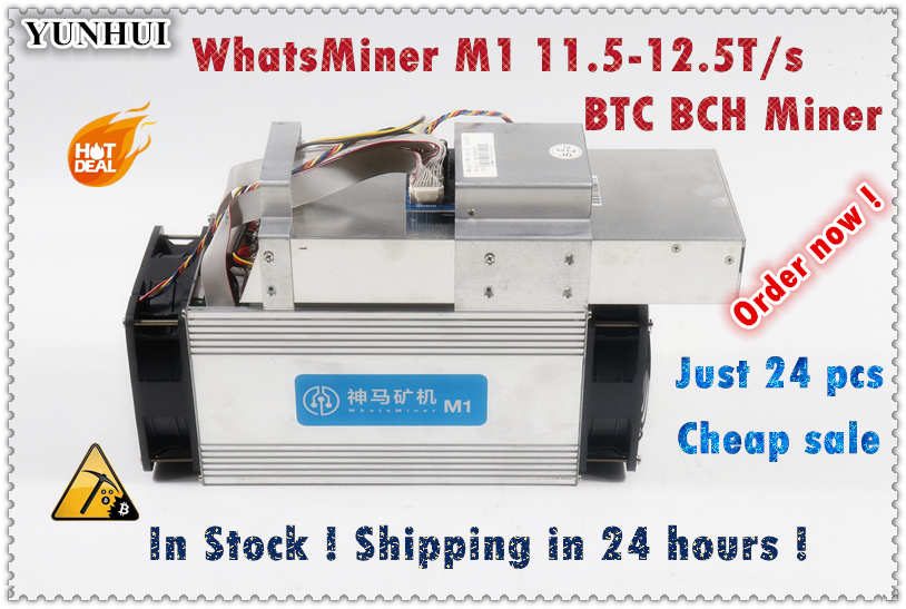 Used Asic BTC BCH Miner WhatsMiner M1 11.5T-12.5T Economic Than Antminer S9 S9k T9+ S15 S17 T17 Ebit E9 WhatsMiner M3 M3X M20S