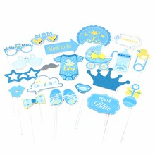 Photo Booth It Is A Boy Baby Shower Birthday Party Prop Accessories Girl Blue Pink Event Supplies