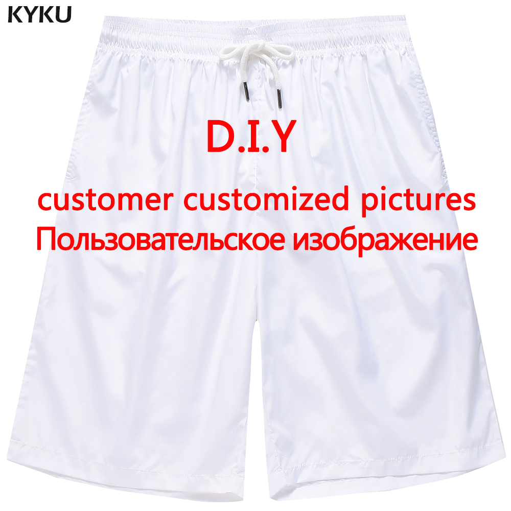 KYKU Customize Your Photo   Board     Shorts   Men Custom Design Beach   Shorts   Casual Hip Hop Mens   Shorts   DIY Summer New M-5XL