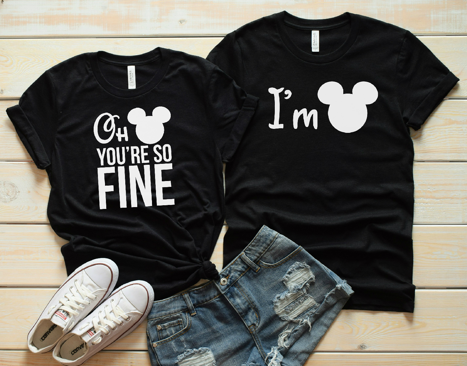 e3d476d5 2017 New Arrival Couples Shirt Mickey Minnie Two Sided Matching ...