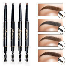 Professional Double-end Eyes Makeup Waterproof Eyebrow Pencils Black Brown Natural Eye Brow Pen Cheap Make Up
