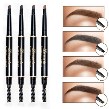 Professional Double-end Eyebrow Pencil Makeup Waterproof Eyebrow Black Brown Natural Eyebrow Pen with Brush Make Up Cosmetics